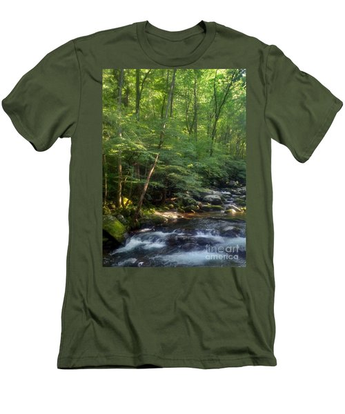 Men's T-Shirt (Slim Fit) featuring the photograph Great Smoky Mountains by Janice Spivey