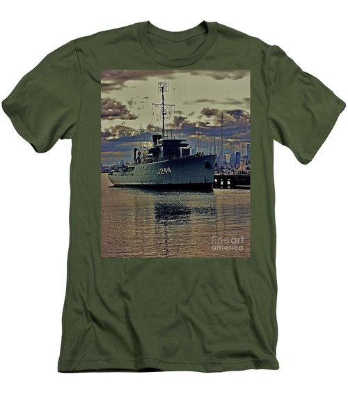 Men's T-Shirt (Slim Fit) featuring the photograph Hmas Castlemaine 3 by Blair Stuart