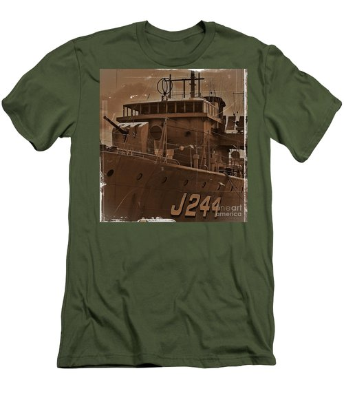 Men's T-Shirt (Slim Fit) featuring the photograph Hmas Castlemaine 4 by Blair Stuart