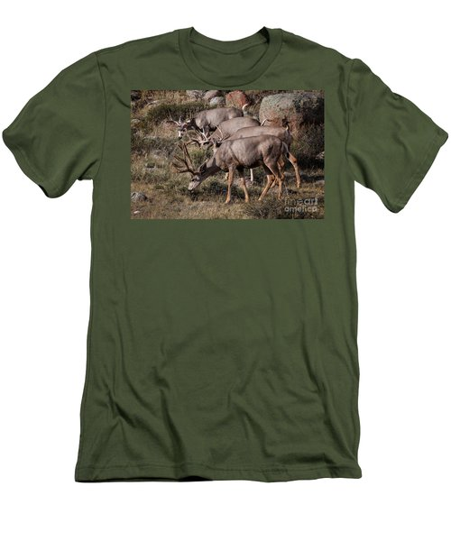 Mule Deer Bucks Men's T-Shirt (Athletic Fit)