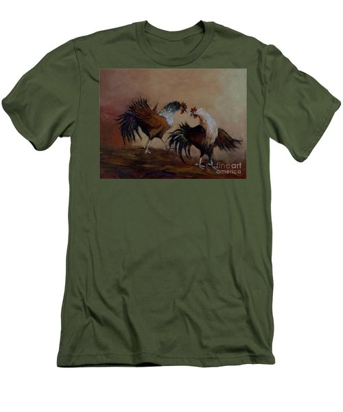 Rooster Fight Men's T-Shirt (Athletic Fit)