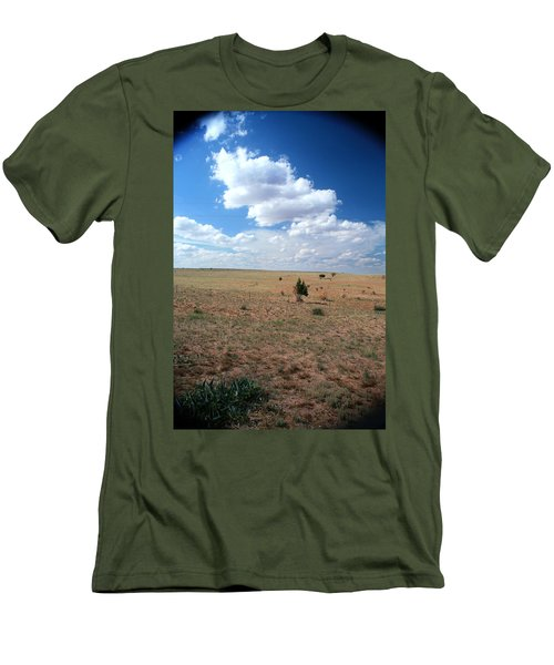 Men's T-Shirt (Slim Fit) featuring the photograph Somewhere Off The Interstate In New Mexico by Lon Casler Bixby