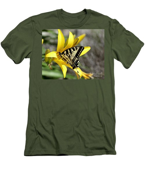 Swallowtail Yellow Lily Men's T-Shirt (Athletic Fit)
