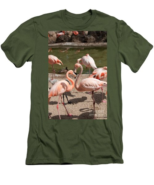 Flamingos Men's T-Shirt (Slim Fit) by Carol Ailles