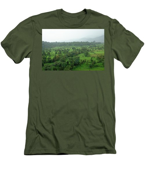A Beautiful Green Countryside Men's T-Shirt (Athletic Fit)