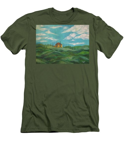A Day In Tuscany Men's T-Shirt (Slim Fit) by John Keaton