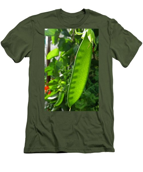 Men's T-Shirt (Slim Fit) featuring the photograph A Green Womb by Steve Taylor