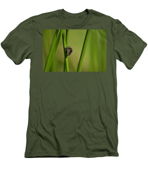 Men's T-Shirt (Slim Fit) featuring the photograph A Jumper In The Grass by JD Grimes