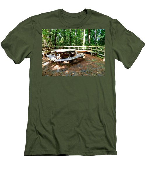 Men's T-Shirt (Slim Fit) featuring the photograph A Place For Gathering by Ester  Rogers