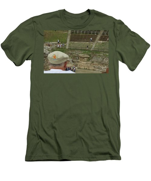 A Tourist And The Ancient Theater Of Taormina Men's T-Shirt (Athletic Fit)