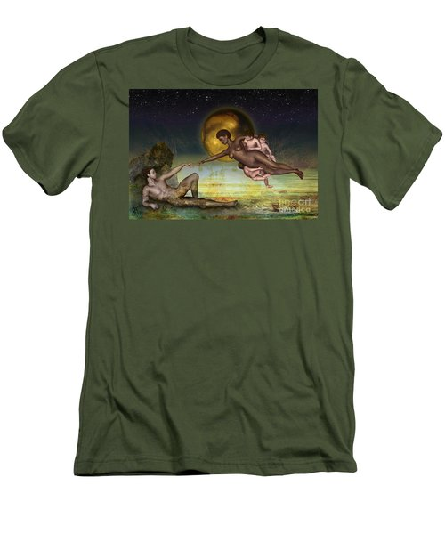Adam Creation Revisited She Is Black Men's T-Shirt (Athletic Fit)