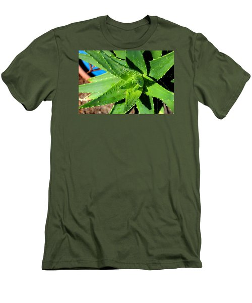 Men's T-Shirt (Slim Fit) featuring the photograph Aloe by M Diane Bonaparte