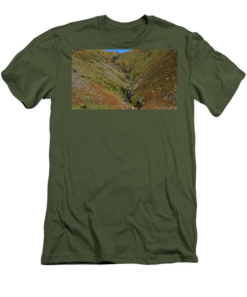 Men's T-Shirt (Slim Fit) featuring the photograph Annascaul Mountains by Barbara Walsh