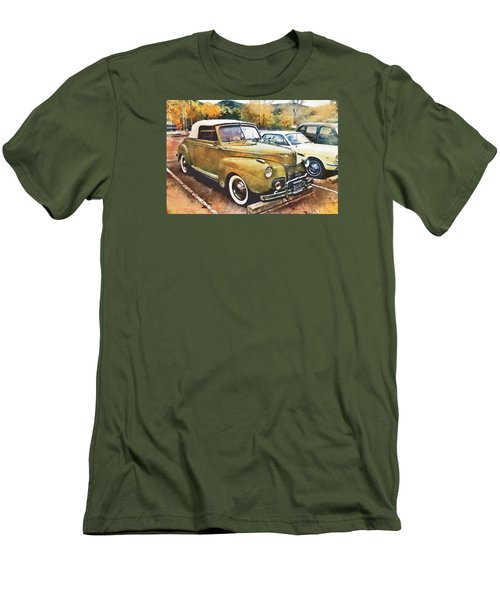 Men's T-Shirt (Slim Fit) featuring the digital art Antique Car  by Mary Almond