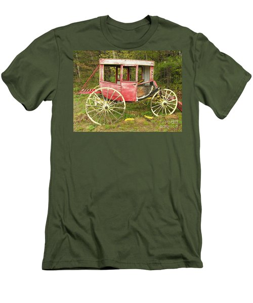 Men's T-Shirt (Slim Fit) featuring the photograph Old Horse Drawn Carriage by Sherman Perry