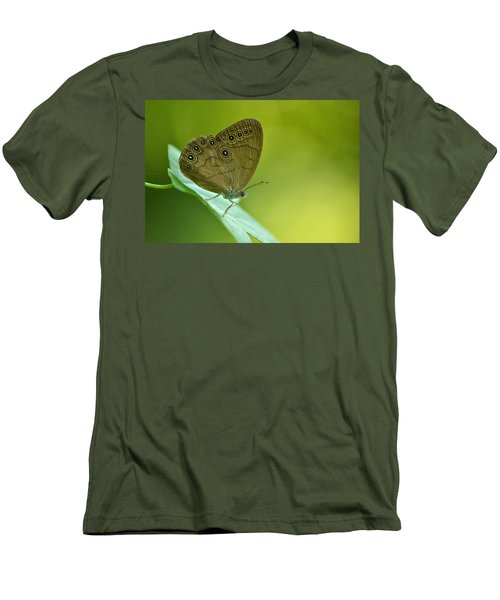 Men's T-Shirt (Slim Fit) featuring the photograph Appalachian Brown by JD Grimes