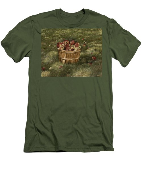 Apples In Basket Men's T-Shirt (Athletic Fit)