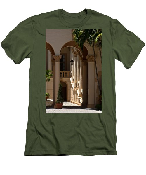 Men's T-Shirt (Slim Fit) featuring the photograph Arches And Columns At The Biltmore Hotel by Ed Gleichman
