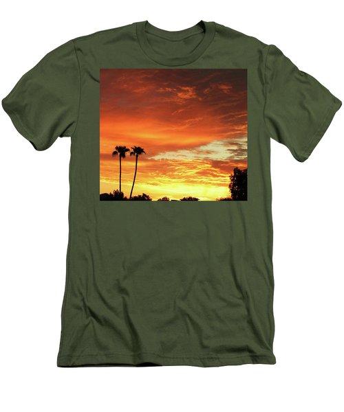 Men's T-Shirt (Slim Fit) featuring the photograph Arizona Sunrise 02 by Rand Swift