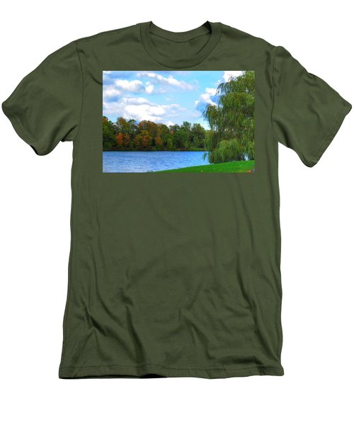 Men's T-Shirt (Slim Fit) featuring the photograph Autumn At Hoyt Lake by Michael Frank Jr