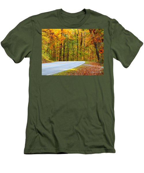 Men's T-Shirt (Slim Fit) featuring the photograph Autumn Drive by Lydia Holly