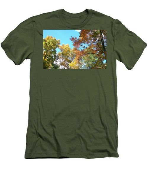 Men's T-Shirt (Slim Fit) featuring the photograph Autumn's Vibrant Image by Pamela Hyde Wilson