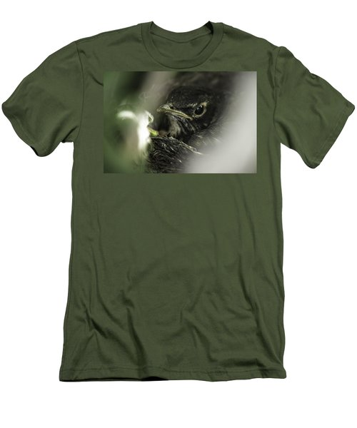 Men's T-Shirt (Slim Fit) featuring the photograph Baby Robin by Tom Gort