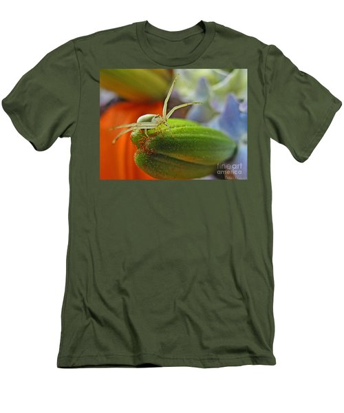 Men's T-Shirt (Slim Fit) featuring the photograph Back Off by Debbie Portwood