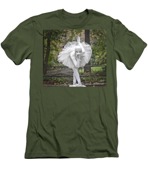 Ballerina In The Park Men's T-Shirt (Slim Fit)