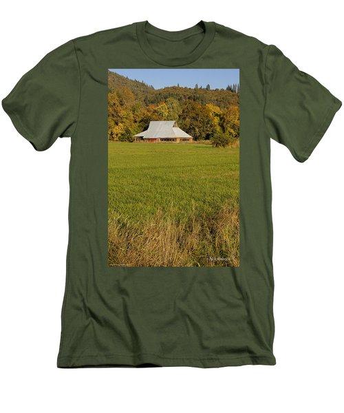 Barn Near Murphy Men's T-Shirt (Slim Fit) by Mick Anderson