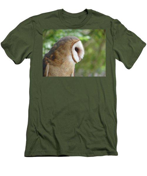 Barn Owl Men's T-Shirt (Slim Fit) by Randy J Heath