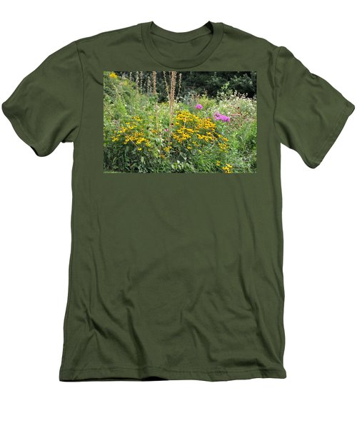 Men's T-Shirt (Slim Fit) featuring the photograph Beautiful Flower Garden by John Black