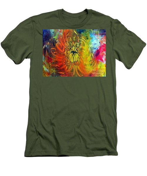 Men's T-Shirt (Slim Fit) featuring the painting Beautiful Mistake by Sandro Ramani