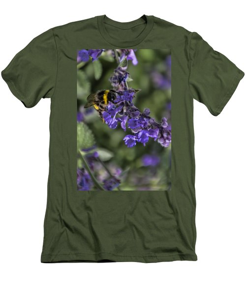 Men's T-Shirt (Slim Fit) featuring the photograph Bee by David Gleeson