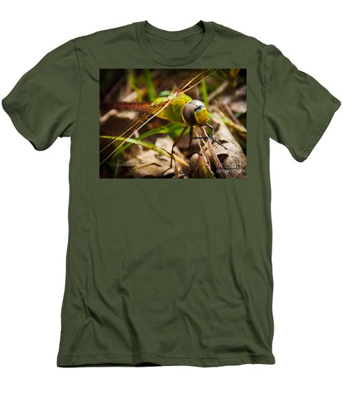 Men's T-Shirt (Slim Fit) featuring the photograph Big Brown Eyes by Cheryl Baxter