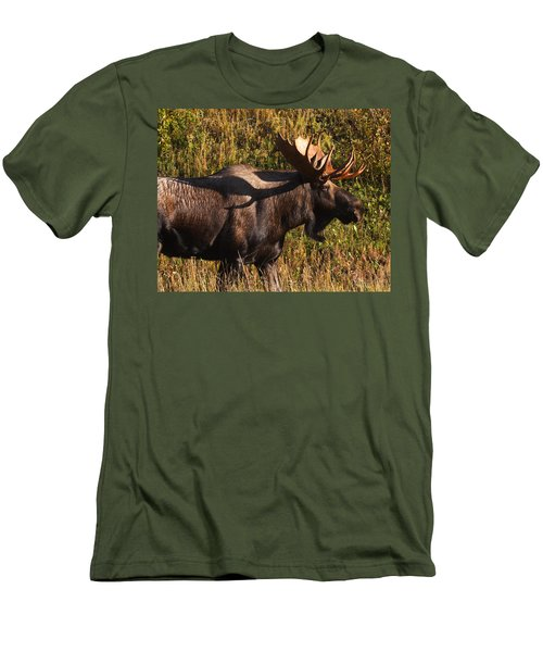 Men's T-Shirt (Slim Fit) featuring the photograph Big Bull by Doug Lloyd