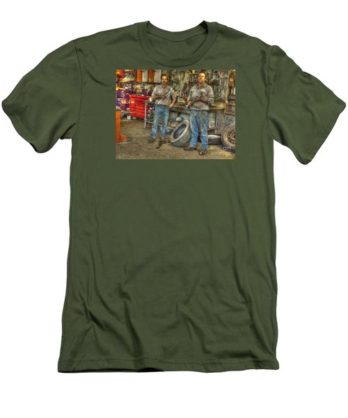 Men's T-Shirt (Slim Fit) featuring the photograph Big Wrenches by William Fields