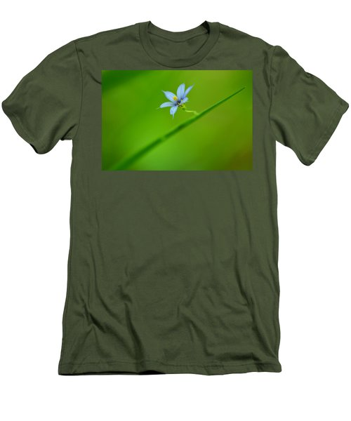 Men's T-Shirt (Slim Fit) featuring the photograph Blue-eyed Grass by JD Grimes