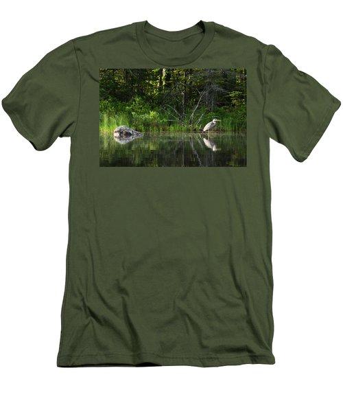 Blue Heron Long Pond Wmnf Men's T-Shirt (Athletic Fit)
