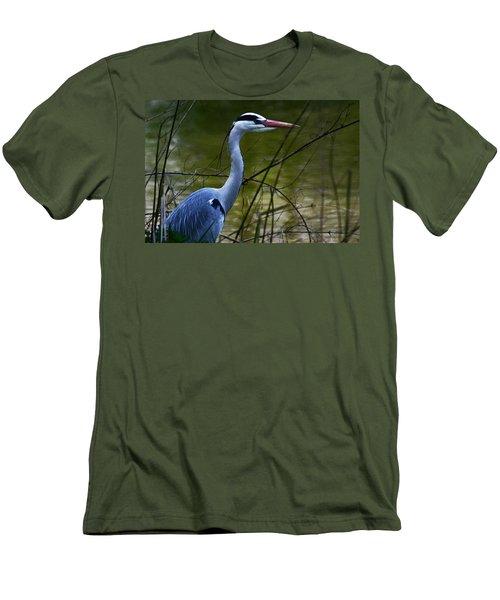 Blue Heron Vondelpark Amsterdam Men's T-Shirt (Athletic Fit)