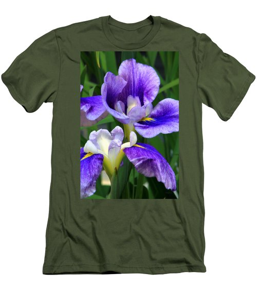 Blue Irises Men's T-Shirt (Athletic Fit)