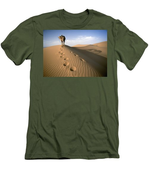 Blue Man Tribe Of Saharan Traders With Men's T-Shirt (Athletic Fit)
