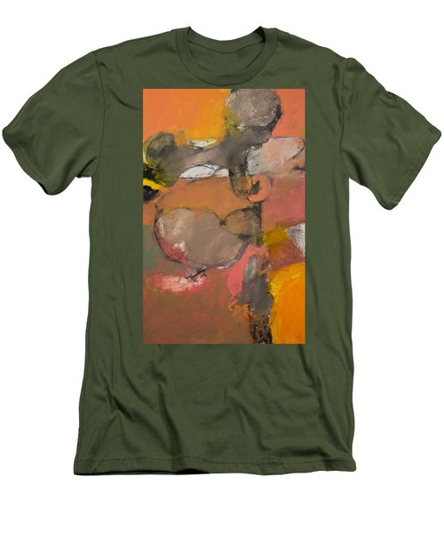 Men's T-Shirt (Slim Fit) featuring the painting Breastbone by Cliff Spohn