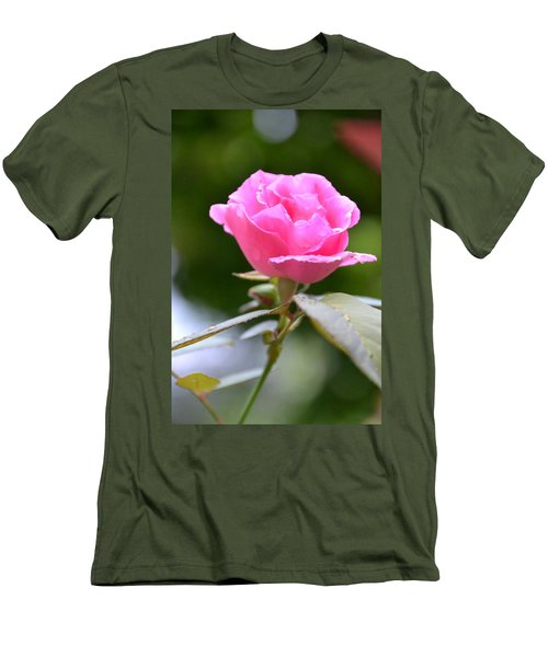 Bubblegum Rose Men's T-Shirt (Athletic Fit)