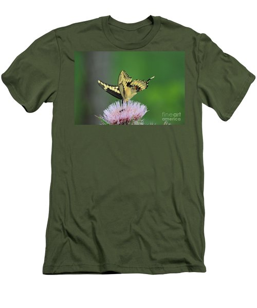 Men's T-Shirt (Slim Fit) featuring the photograph Butterflies Are Free by Kathy  White