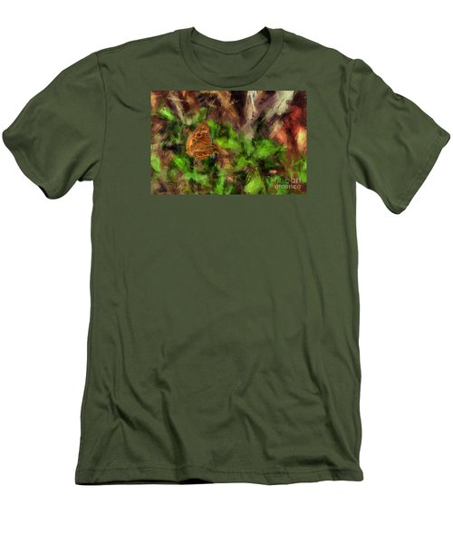 Men's T-Shirt (Slim Fit) featuring the photograph Butterfly Camouflage by Dan Friend
