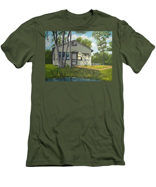 Cabin Up North Men's T-Shirt (Athletic Fit)