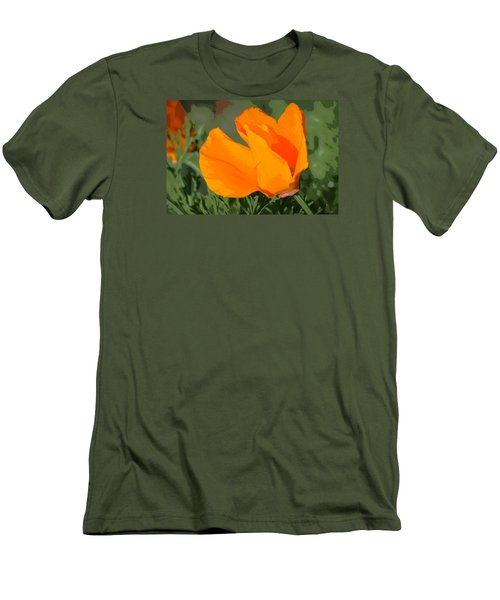 Men's T-Shirt (Slim Fit) featuring the photograph California Poppy2 by Rima Biswas