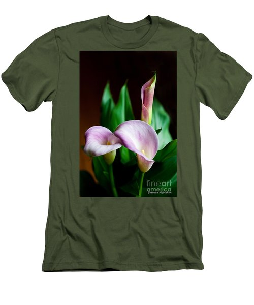 Men's T-Shirt (Slim Fit) featuring the photograph Calla Lily by Barbara McMahon
