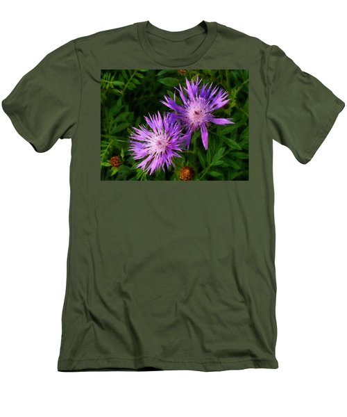 Men's T-Shirt (Slim Fit) featuring the photograph Can Flowers Say Boo by Steve Taylor